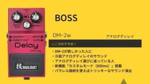 BOSS/DM-2Wディレイのレビュー!機能の使い方や音質について