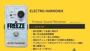 エレハモ/Freeze Sound Retainer(フリーズサウンドリテイナー)をレビュー!