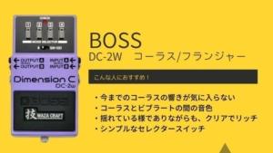 BOSS/DC-2W dimension cのレビュー!不思議な音色、でもかなり使える