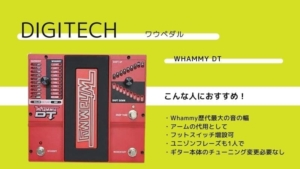 DIGITECH/Whammy DTのレビュー!効果的な使い方やWhammy5との違い