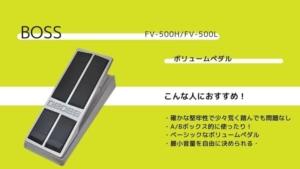 BOSS/FV-500HとFV-500Lの違いを比較!レビューやそれぞれの特徴を紹介