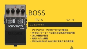 BOSS/RV-6のレビュー!使い方やセッティング、RV-5との違いを解説
