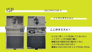 ISP/DECIMATOR IIのレビュー!G STRINGとの違いも比較