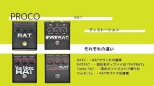 PROCO/FATRATとRAT2、Turboの違いと種類の比較、レビューを紹介