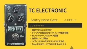 TC ELECTRONIC/Sentry Noise Gateのレビューと使い方