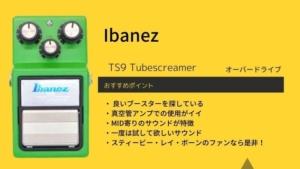 Ibanez/TS9 Tubescreamerのレビュー!使い方や音作りのコツ