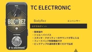 TC ELECTRONIC/BodyRezのレビュー!ピエゾやマグネットの相性は?